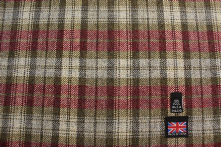 100% Pure New Wool Shetland Tweed Plaid Fabric CZ05
